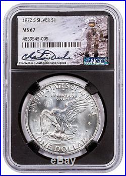 1964 Silver Kennedy Half Dollar NGC GEM Proof Blk Charlie Duke Signed SKU55325