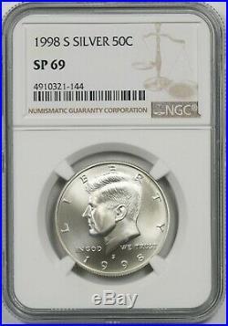 1998-S Silver 50C NGC SP 69 Kennedy Half Dollar