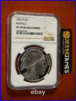 2001 P $1 American Silver Buffalo Commemorative Dollar Ngc Pf70 Ultra Cameo