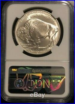 2001 P & D Buffalo Commemorative Silver Dollar Rare NGC MS 70 & PF 70 Set