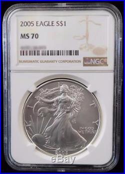 2005 NGC MS70 Silver AMERICAN EAGLE Walking Liberty Dollar
