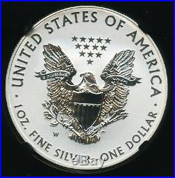 2013 W American Silver Eagle Dollar NGC PF 69 Reverse Proof