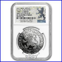 2017 Netherlands 1 oz Silver Lion Dollar Restrike PF-70 NGC SKU #151252