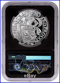 2017 Netherlands Restrike 1 oz Silver NY Lion Dollar NGC PF70 UC FR Blk SKU49058