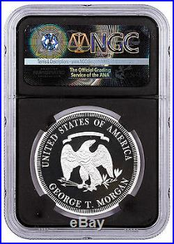 (2017) Smithsonian Morgan First Silver Dollars 1 oz Silver NGC PF70 Blk SKU47351