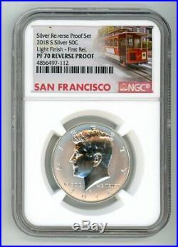 2018 S Silver Kennedy Half Dollar 50c Reverse Proof Ngc Pf70 Light Finish Fr 112