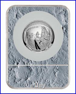 2019 Apollo 11 50th Commem 5 oz Silver Dollar NGC PF70 ER Moon Label SKU56516