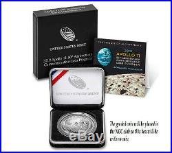 2019 P $1 Apollo 11 50th Ann 1 oz Silver Dollar NGC MS70 Coin Black Core ER+OGP