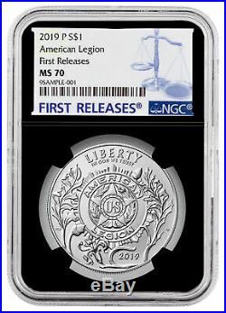 2019 P American Legion 100th Silver Dollar NGC MS70 FR Black Core SKU57429