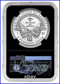 2019 P American Legion 100th Silver Dollar NGC PF70 UC FR Black Core SKU57422