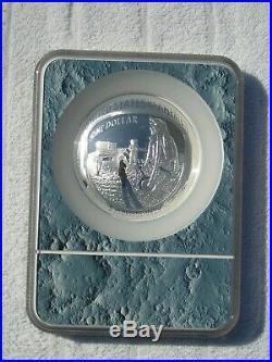 2019-P Proof 70 5 oz Silver Apollo 11 Commemorative Dollar Early Release Cameo