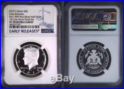 2019-S 50C SILVER Proof Kennedy Half Dollar First. 999 NGC PF 70 Early Releases