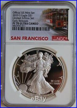 2019 S Limited Edition Silver Eagle Proof Dollar from Set NGC PF 70 Early Rel