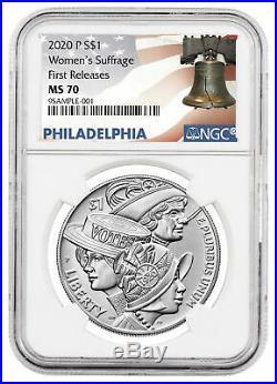 2020 P Women's Suffrage Commemorative Silver Dollar NGC MS70 FR Liberty PRESALE