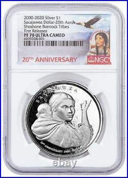 (2020) Shoshone Sacajawea Dollar Alternate Design 1 oz Silver $1 NGC PF70 UC FR