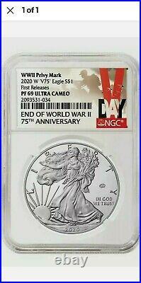2020 W End of World War II 75th American Silver Eagle V75 NGC PF69 69 PRESALE