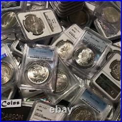 Estate Lot US Silver Dollars PCGS NGC Morgan Peace UNC O, S, P, CC Coins