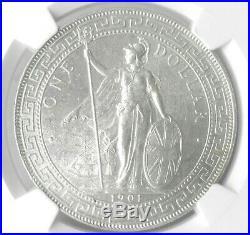 Great Britain, 1901 B Trade Dollar Ngc Ms64