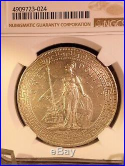 Great Britain Silver Trade Dollar 1897-B NGC AU 58