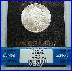 Gsa Hoard 1884-cc U. S. Morgan Silver Dollar Ngc Certified & Graded Ms 63