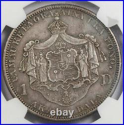 Hawaii 1883 Silver Dollar $1 Coin NGC VF35 KING KALAKAUA Crown Size Nicely Toned