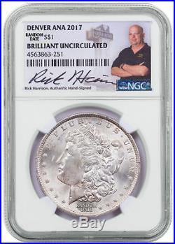 Random Morgan Silver Dollar Denver ANA 2017 NGC BU Excl Rick Harrison SKU48659